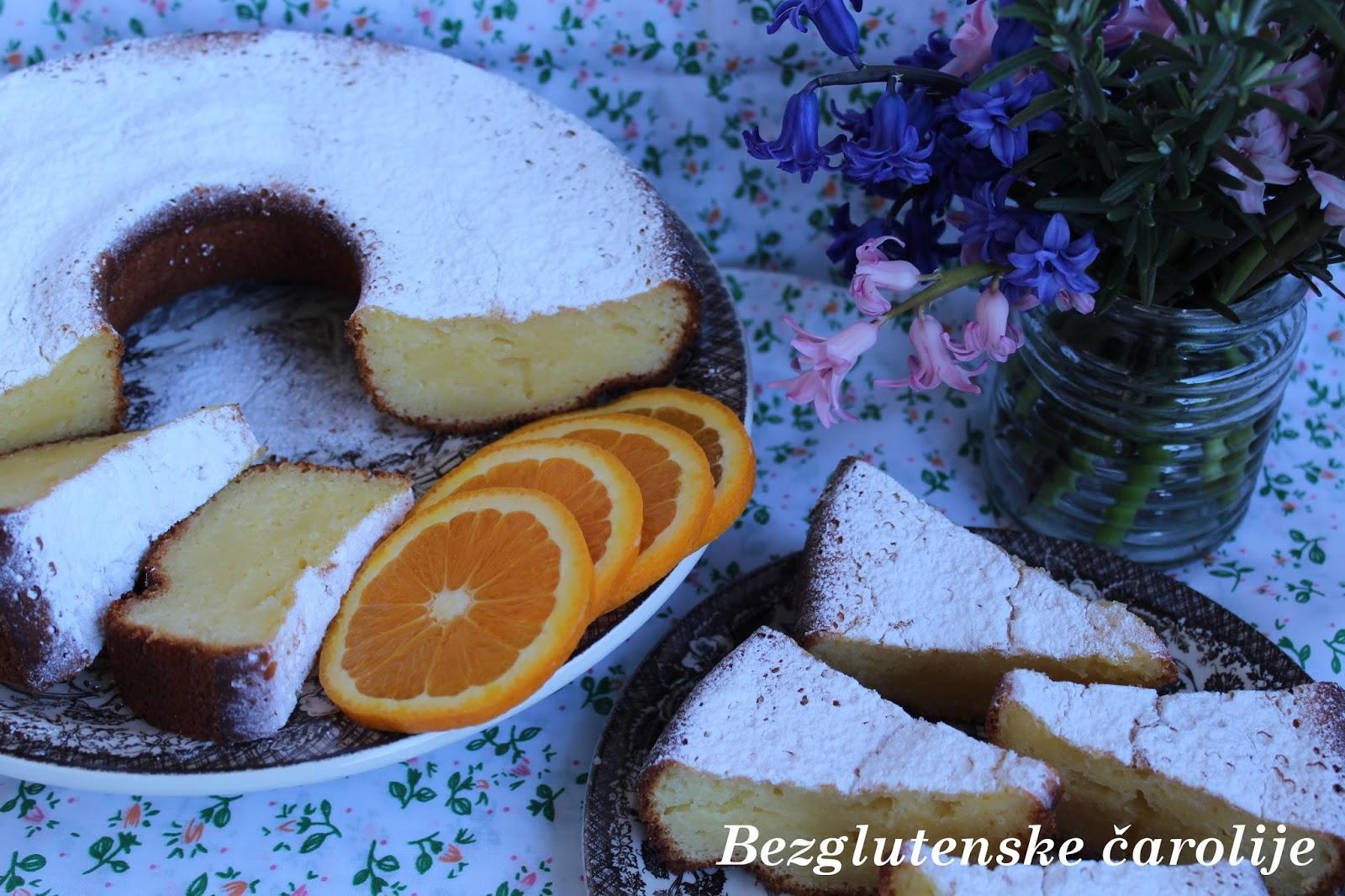 Bezglutenski kuglof sa sirom i narandžom