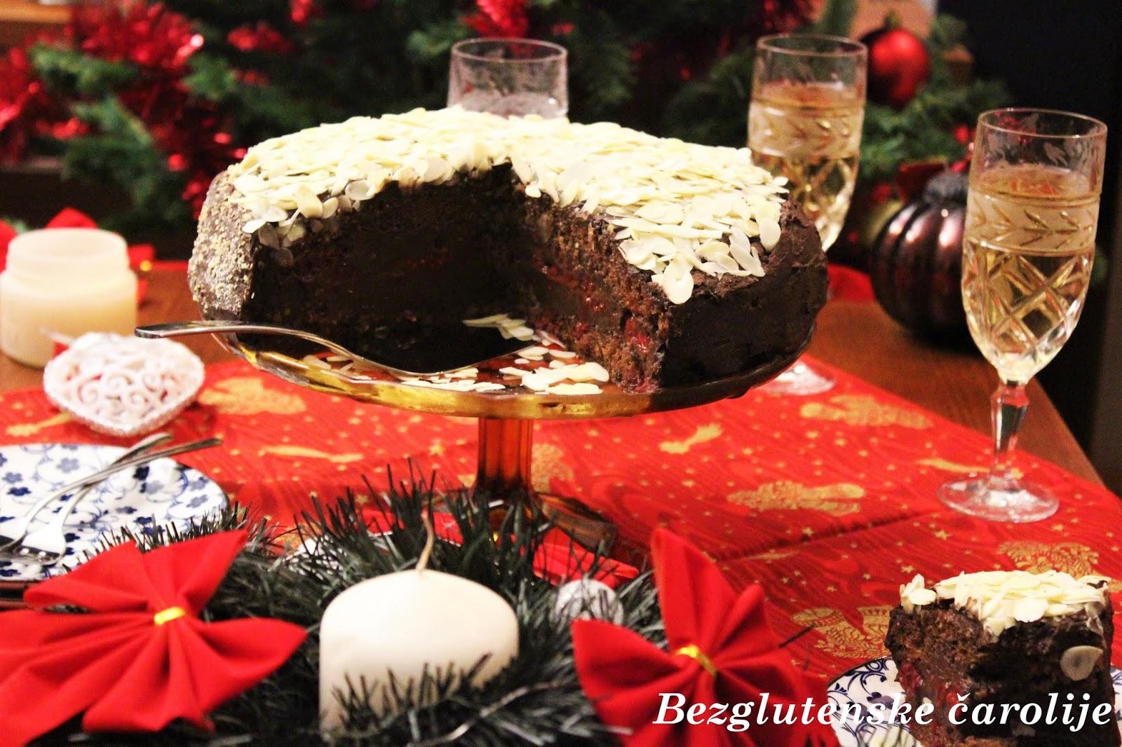 Bezglutenska posna torta sa lešnikom i malinama