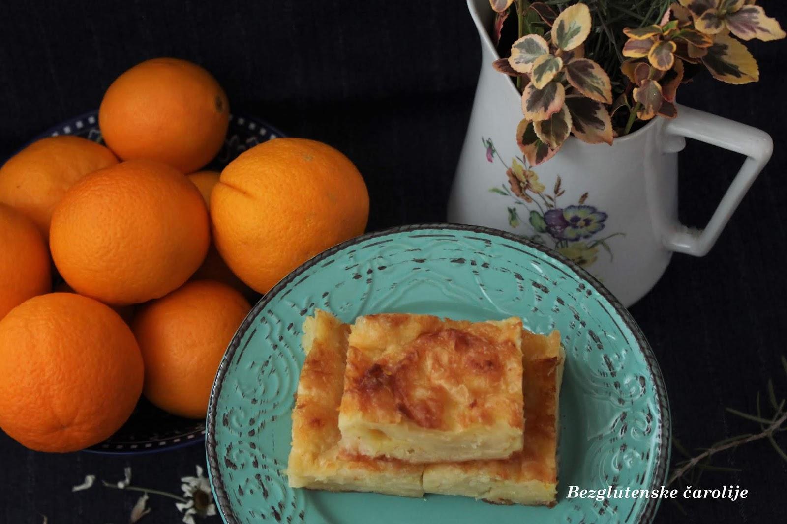 Portokalopita bez glutena (pita od pomorandže)