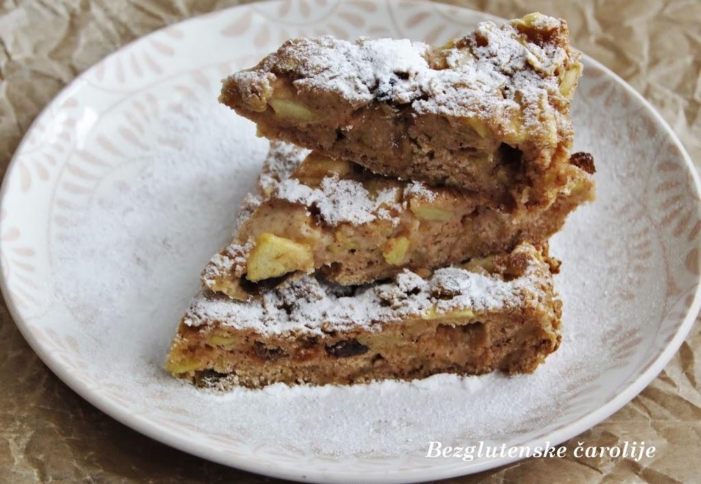 Bezglutenski kolač sa jabukama bez šećera i jaja (posno)